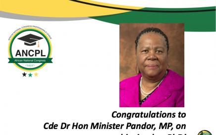 Congratulating Dr Pandor