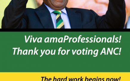 Viva amaProfessionals!  Thank you for voting ANC!