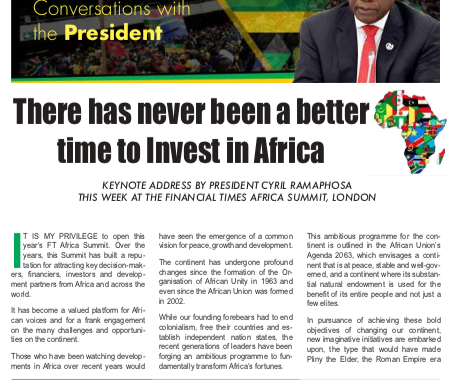 ANC Today: Invest in Africa